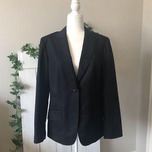 SALE 🎉 Hilfiger Blazer Navy Pin Striped Jacket